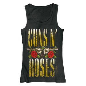 Metallic Gold Guns N' Roses Graphic Tank - Small